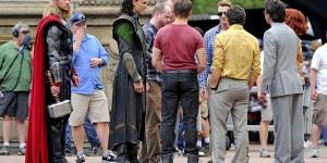 Sur le tournage d'Avengers