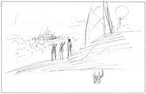 Wes Ball m'a dessiné un paysage...