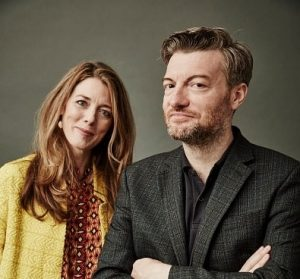 Annabel Jones et Charlie Brooker (© Maarten de Boer / Getty Images)