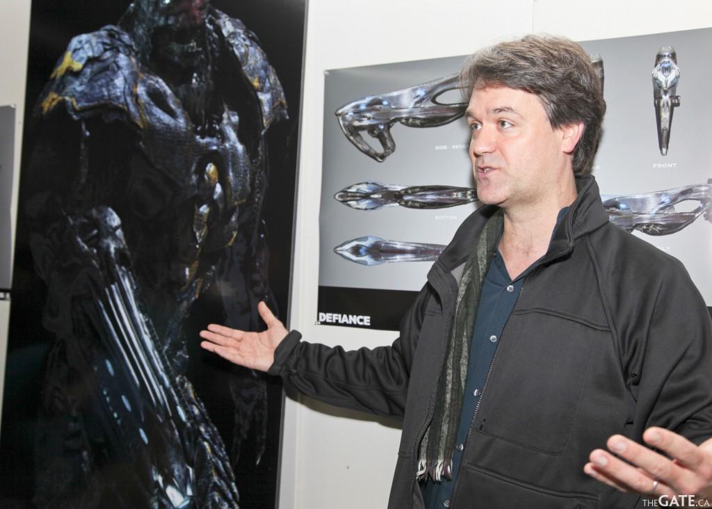 Kevin Murphy dans les studios de Defiance. © TheGate.ca